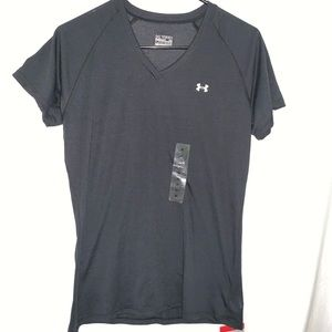 NWT under armor heat gear loose fit V-neck shirt M